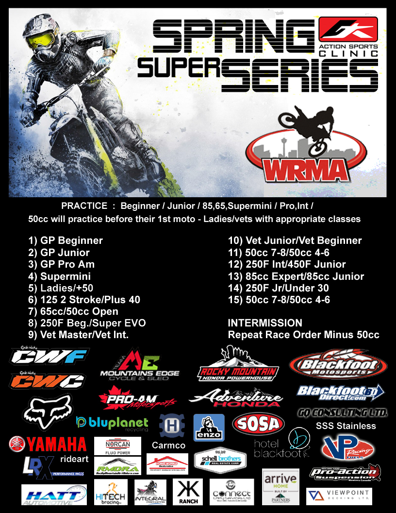 Spring & Fall WRMA Super Series | Wild Rose Motocross Association